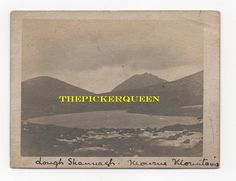 Antique Vintage Photograph~Mountains~Lake~Outside~Landscape~Rocks~Nature