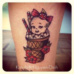 cute kewpie! by Kim-Anh Nguyen, Salon Serpent Tattoo, Amsterdam
