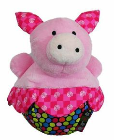 Amazing Baby Roly Poly Pink Pig Farm Animal Chime Plush Toy by Kids Preferred. $12.49. Bright and colorful with satin accents to attract baby, this pig will reward baby's curiosity with a pleasing chime sound. Approximately 7 inches tall and baby safe.