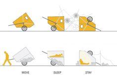 ENCORE HEUREUX - Architectes et Collectif depuis 2001 Room room, 2008 // design de produit  Maniable, leger, reversible, peu couteux