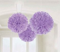 "Lavender  Paper Tissue Pom Poms DYI Wedding 14 "" Tissue Paper POM POM  Pompom , Paper Flower , Kids Party Supplies / Wedding / Baby Shower"
