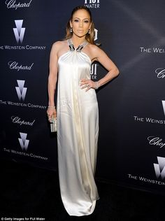 White hot! Jennifer Lopez made for a heavenly sight as she attended The Weinstein Company's star-studded pre-Oscar party in Los Angeles on Saturday night