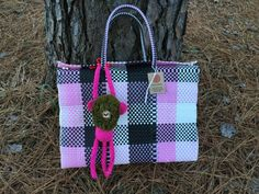 Mexican Ethnical Tote Style, Beach Bag, Picnic Bag,Vegan Bag, Mexican bag, recycled plastic, handwoven , briefcase.
