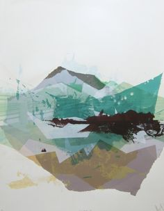 Great texture combined with clever colour overlay on this screenprint.