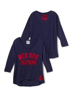Boston Red Sox Long-sleeve Drapey Tee - Victoria's Secret Pink® - Victoria's Secret