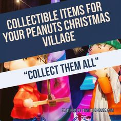 Build a Peanuts Christmas Village for the Kids. Included below are collectible figurines as well as faux snow and mini trees to complete your Village's artistic look.