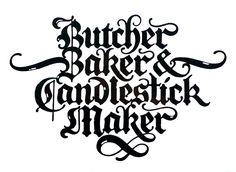 Blackletter scripts 1980—1995 by David Quay, via Behance