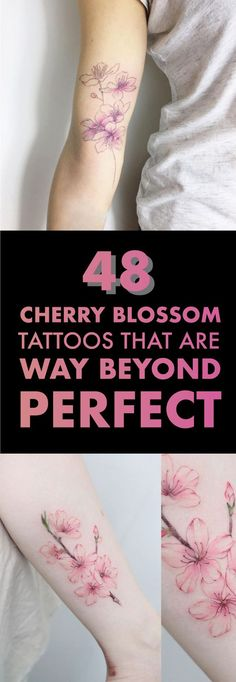 48 Cherry Blossom Tattoos That Are Way Beyond Perfect