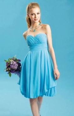 Bridesmaid Dress Infinity Dress Aqua Blue Knee Length Wrap ...