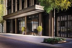 The Naftali Group, which is developing two luxury condominiums on a short Upper West Side stretch, is adding a bit of sparkle to the area by using special cement in the sidewalks outside its buildings.