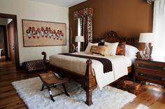 44 Beautiful African Bedroom Decor - Home Design Home Design, Home Interior Design, Design Ideas, Design Concepts, Design Inspiration, African Bedroom, Safari Home Decor, African Interior Design, African Design