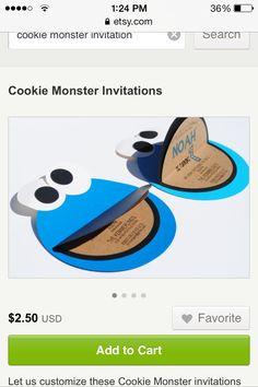 Cookie Monster invites CUTE