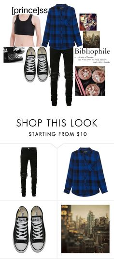 """""""Non-Binary Hero"""" by lee-kenfin ❤ liked on Polyvore featuring AMIRI, Rails, Converse, awesome, cool and outfit"""