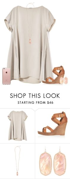 """upset because all the girls at camp"" by conleighh ❤ liked on Polyvore featuring Topshop, Kendra Scott and Incase"