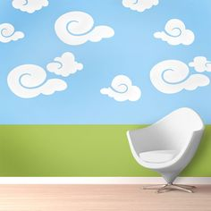 Whimsy Clouds Stencil Kit - Cloud Wall Stencils