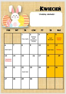 Kalendarz przedszkolaka 2019/2020 - Pani Monia Grid, School, Gifts, Speech Language Therapy, Presents, Favors, Gift