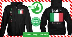 Show Your Pride in Your Italian Heritage with this Limited Edition Full Front Zip Hoodie