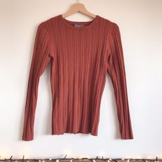 e2df015d265 Primark Rust Orange Ribbed Top Gorgeous long sleeve fitted lightweight  jumper! Ideal for spring/. Depop