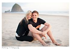 Couple, beach pose, Bethany F Photography