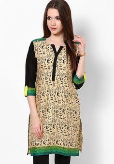 Samaya #Cotton Green Printed #Kurta - Buy Samaya Women #Kurtis & #Kurtas Online | SA254WA38MWZINDFAS