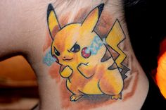 Here´s a better photo made with my new Nikon Camera Have fun and I hope you´ll love it like me Tattoo made by Kay in Berlin, Germany Thanks ma. My Pikachu Tattoo Finger Tattoos, Hand Tattoos, Body Art Tattoos, Tatoos, Color Tattoos, Go Tattoo, Tattoo Motive, Pokemon Tattoo, Cartoon Character Tattoos