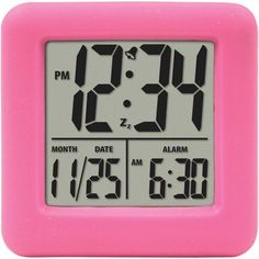 Equity by La Crosse Soft Cube LCD Alarm Clock (Blue) 70905 for sale online Led Alarm Clock, Travel Alarm Clock, Radios, Digital Clock Radio, Alarm Sound, Clocks For Sale, Tabletop Clocks, La Crosse, Soft Purple