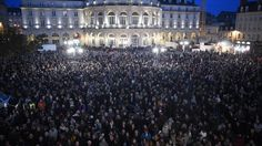 "Je Suis Charlie.  Huge crowds gather across Europe after Paris attack. ""Je Suis Charlie"" means, ""I Am Charlie"" and is a message of support."