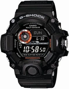 Casio Men's GW-9400BJ-1JF G-Shock Master of G Rangeman Digital Solar Black Carbon Fiber Insert Watch - sector watches, digital watches for women, designer ladies watches *ad