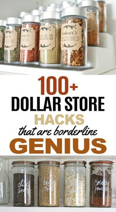 Dollar store hacks that are perfect for DIY projects. These dollar store crafts will really help you organize, clean and decorate your home! I've become a bit of a connoisseur for dollar store hacks. Dollar Store Hacks, Dollar Stores, Easy Craft Projects, Easy Diy Crafts, Craft Ideas, 4x4 Crafts, Project Ideas, Diy Ideas, Budget Crafts