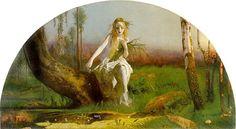 Ophelia by Arthur Hughes :: artmagick.com