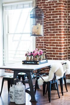 Industrial chic dining