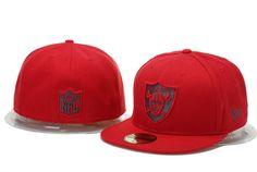 Oakland Raiders Hats New Era NFL Pop Gray Basic 59FIFTY Cap Red