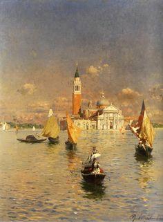 Italian Painters, Italian Artist, King Of Italy, Venice Painting, Isle Of Capri, Travel Images, Turin, Landscape Paintings, Watercolor Paintings