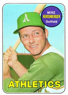 1969 Topps #655 Mike Hershberger Front