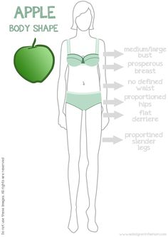 Apple body shape Apple Body Shape Clothes, Dress For Body Shape, Dresses For Apple Shape, Apple Body Shapes, Fashion For Women Over 40, Mirror Mirror, Body Types, Dressing, Advice