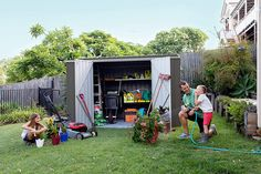 (This is an affiliate pin) 10'x5'***More info could be found at the image url. #OutdoorStorage Lawn And Garden, Garden Tools, Storage Organization, Storage Spaces, Metal Storage Sheds, Steel Sheds, Basic Hand Tools, Modern Colors, Galvanized Steel
