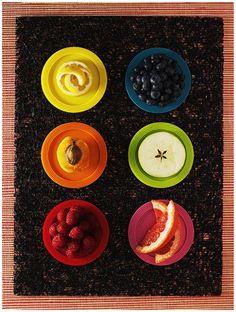 Variação nas cores é sinônimo de: ( )mais vitaminas; ( )Mais saúde; (x)todas as anteriores #Alimente-seBem #comida #EscolhasCertas