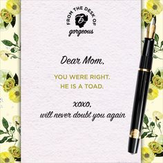 Thanks for all the great advice moms! Happy Mothers Day!