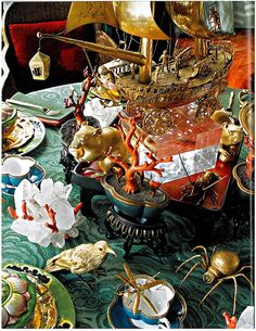 Something completely different for your table? Enjoy the details here - perfect for a pirate event!