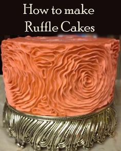 How to make a Coral Ruffle Wedding Cake | Little Delights Cakes