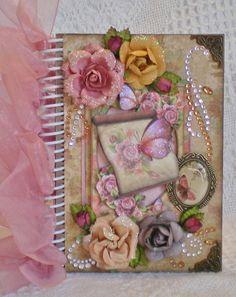 Vintage Handmade Chipboard Journal Album By Georgette Treasured Creations Designs