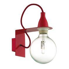Ideal Lux Wandleuchte in rot Minimal 45221 Minimal - Murales Pared Exterior Luminaire Applique, Swing Arm Wall Light, Lampe Decoration, Wall Spotlights, Modern Sconces, Luminaire Design, Wall Fixtures, Dar Lighting, Home Living