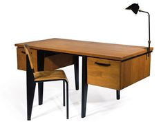 Jean Prouve standard desk and chair, 1943