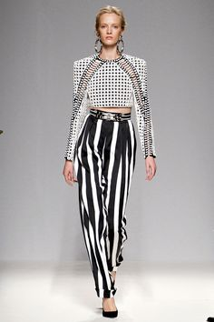 Tendencias primavera 2013 rayas stripes blanco y negro, Balmain
