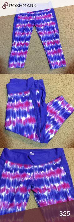 Nike tie dye Capris EUC Capris in bright fun colors Nike Pants Capris
