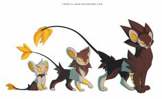 Shinx Luxio and Luxray by francis-john on DeviantArt