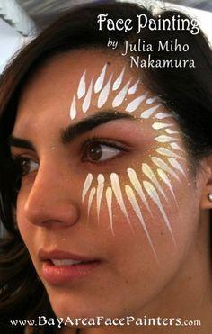 New Eye Design Face Painting Body Art 55 Ideas Eye Face Painting, Adult Face Painting, Face Painting Designs, Face Art, Body Painting, Face Paintings, Neon Face Paint, Tribal Face Paints, Tribal Paint