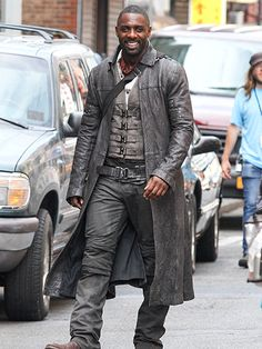 Star Tracks: Friday, July 8, 2016   JUST AN ACT   Idris Elba is seen filming The Dark Tower on Thursday in N.Y.C.,