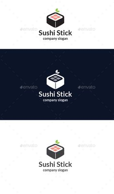 Sushi Stick  Logo Design Template Vector #logotype Download it here: http://graphicriver.net/item/sushi-stick-logo/14257276?s_rank=231?ref=nesto