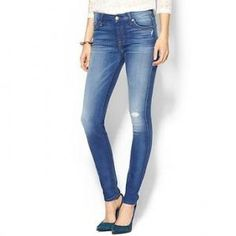 29% off 7 For All Mankind - Mid Rise Jean Squiggle Blue - $139.99